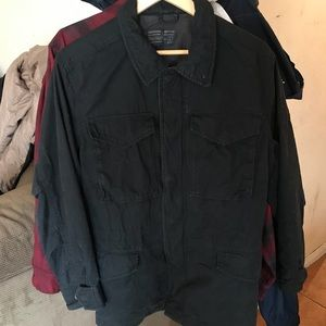 Abercrombie & Fitch military field  jacket black